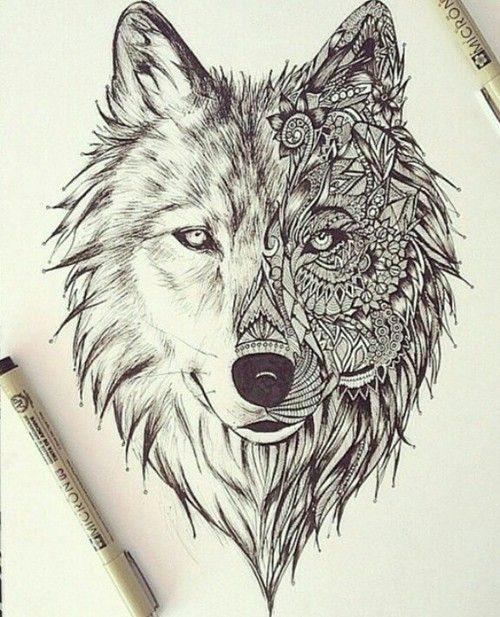 Lobo Dibujo Tumblr Buscar Con Google Dibujos Wolf Tattoos