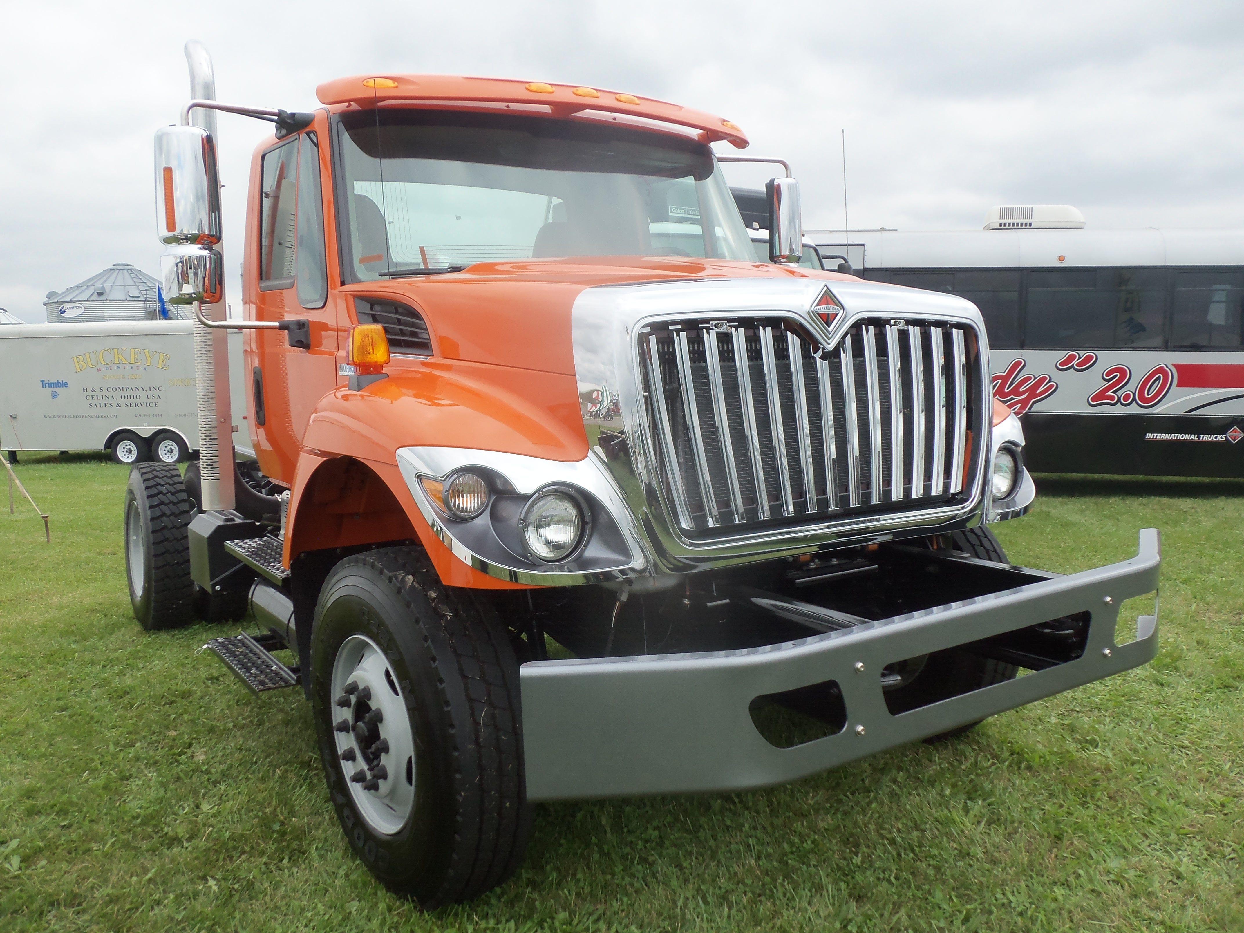 Nice looking orange International MaxxForce  truck