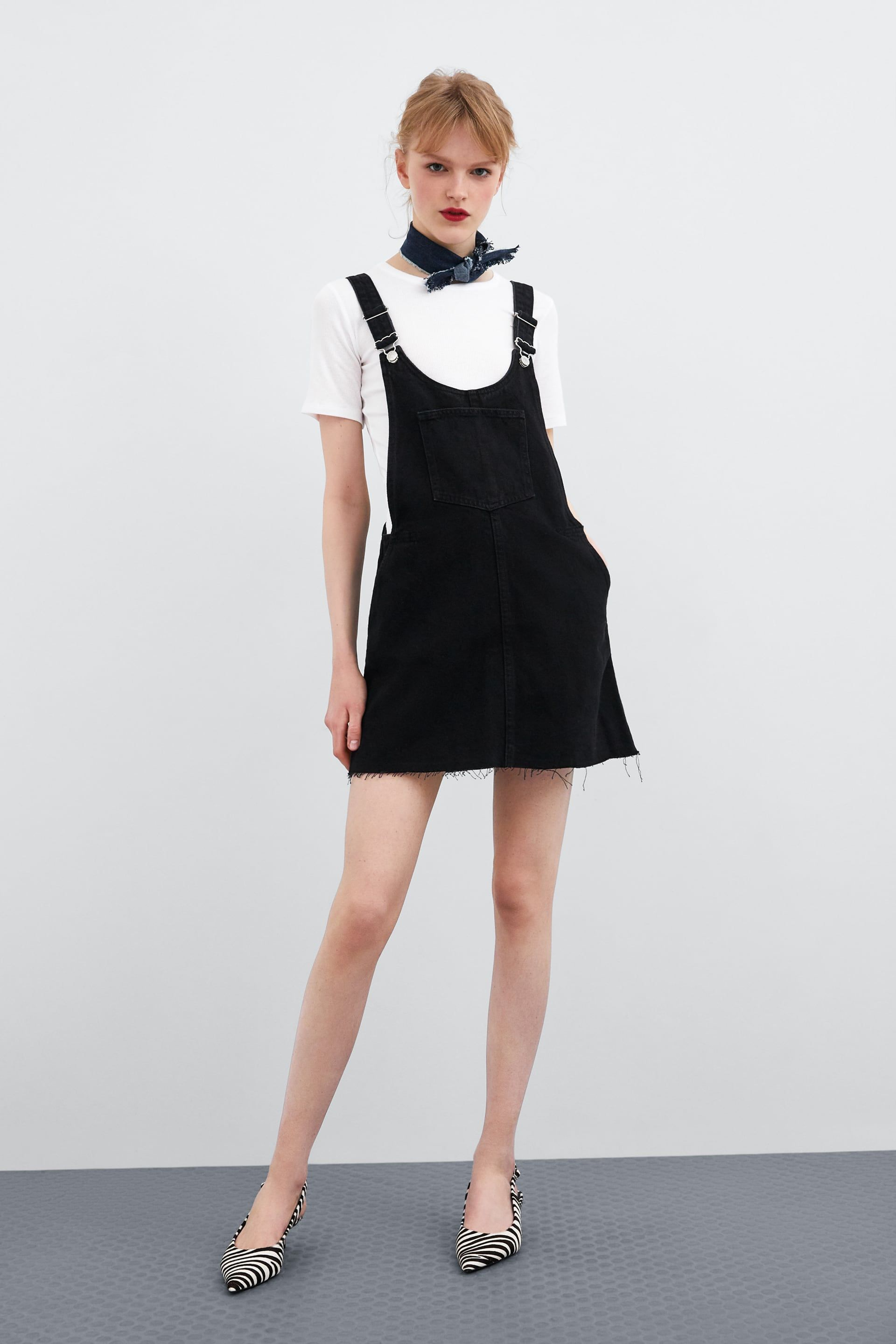 3e9c8071b7 Authentic denim buttoned pinafore in 2019 | Style. | Denim pinafore ...