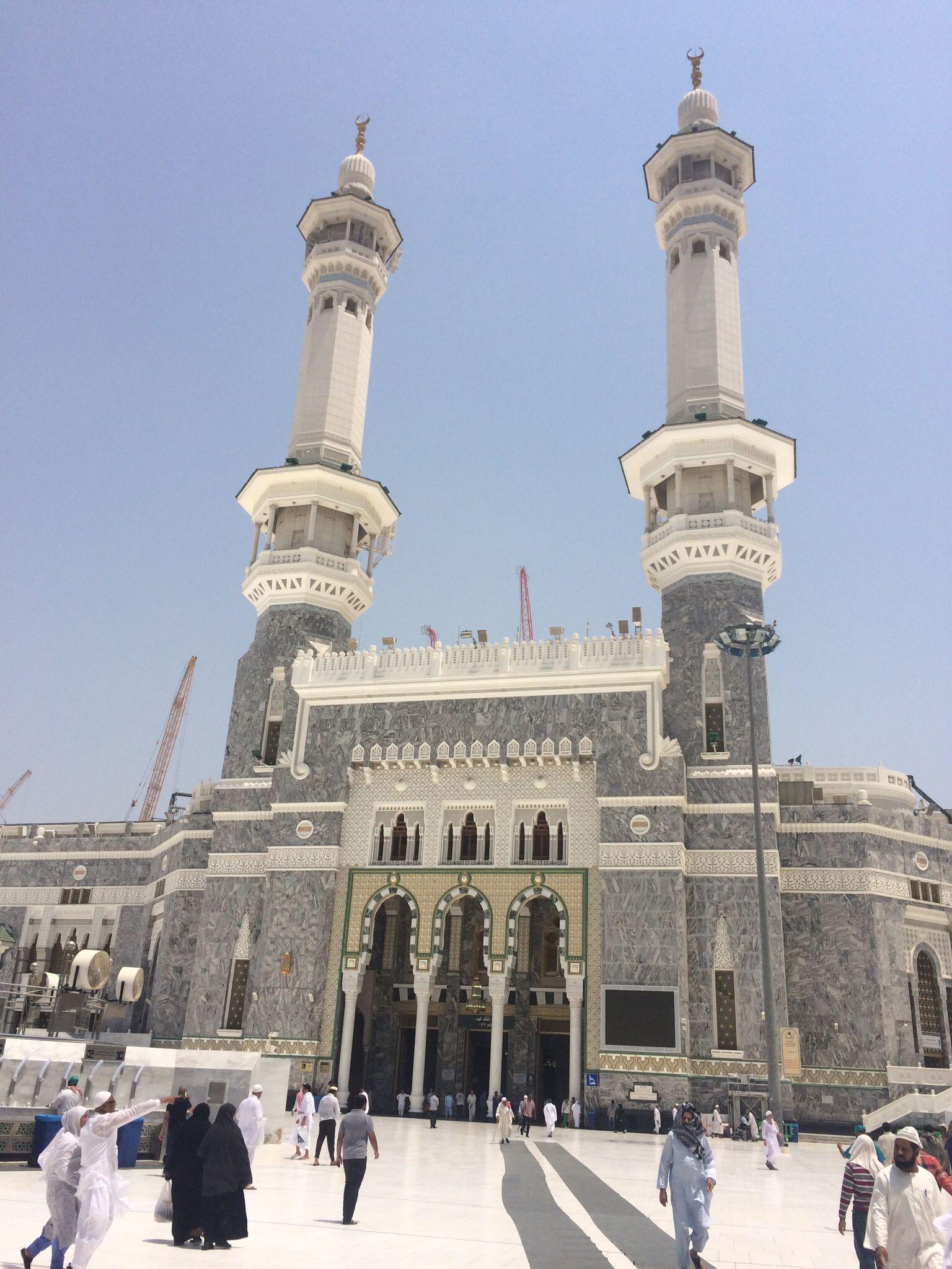 King Fahd Gate Harem I Serif Mekke Islamic Architecture Masjid Al Haram Mekkah