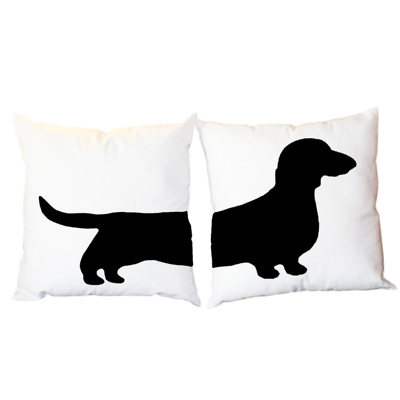 2 Modern Dachshund Pillows - Wiener Dog Home Decor. $61.00, via Etsy ...