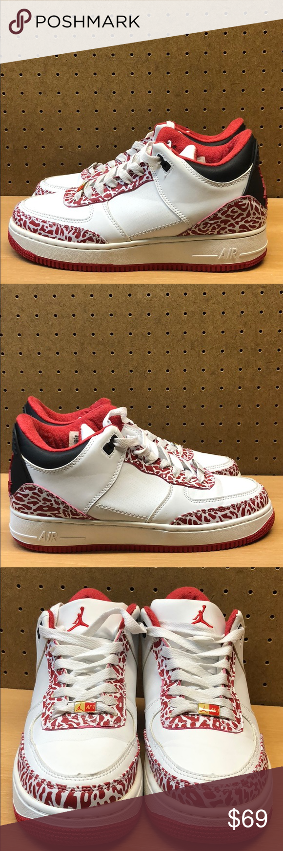 1aa314ffa7cc02 Nike Air Jordan Fusion 3   Air Force 1 Men s sz 7 These are rare. They look  great with a few minor blemishes (see detailed pics) Men s size 7   Women s  size ...