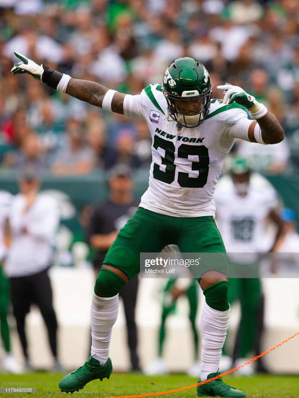 Jamal Adams Of The New York Jets Reacts Against The Philadelphia New York Jets Jamal Adams New York Jets Football