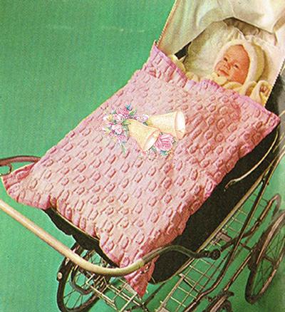 Pink Bells Pram Blanket   Baby knitting, Baby knitting ...