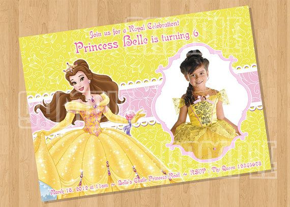 Disney princess belle beauty and the beast birthday party disney princess belle beauty and the beast birthday party invitation by cutiesparties 800 filmwisefo Images