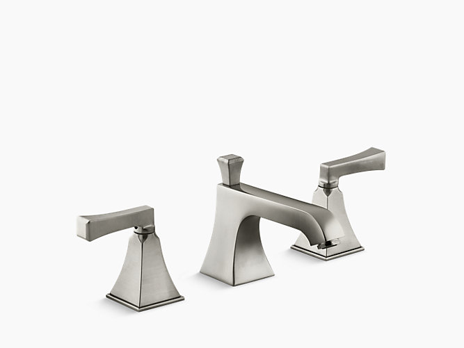 Memoirs Stately Widespread Bathroom Sink Faucet With Deco Lever
