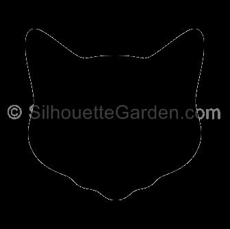 Cat Head Silhouette Silhouette Clip Art Cat Profile Silhouette
