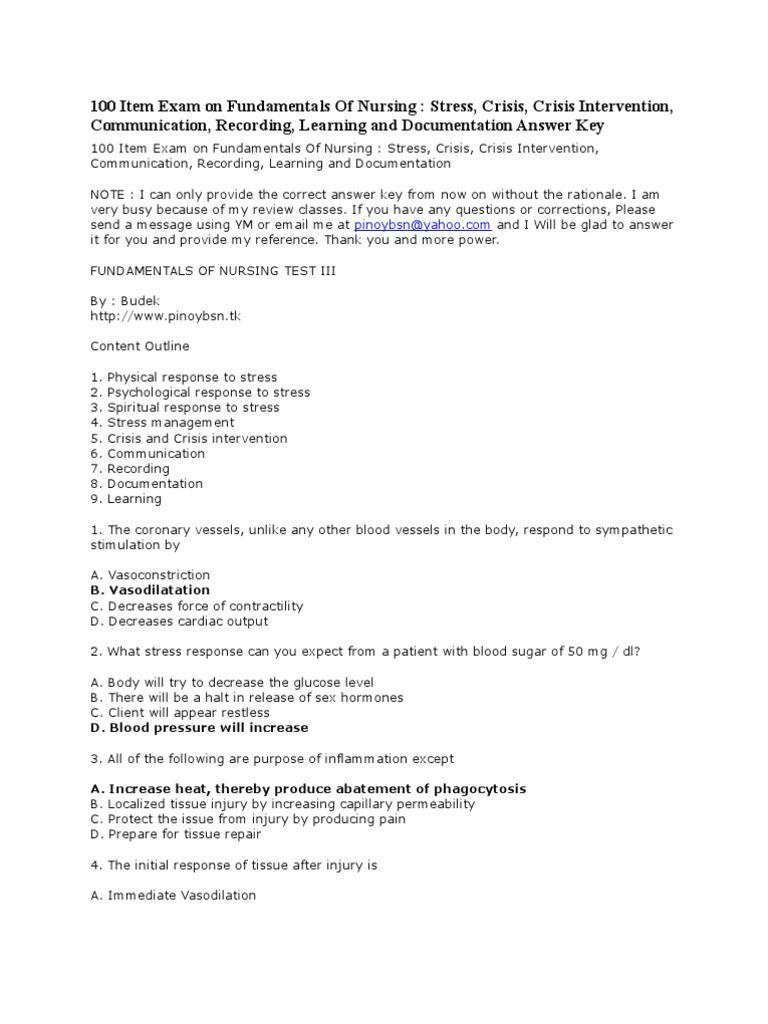 By Photo Congress || Fundamentals Of Nursing Final Exam