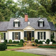 1930's cottage house landscaping - Google Search