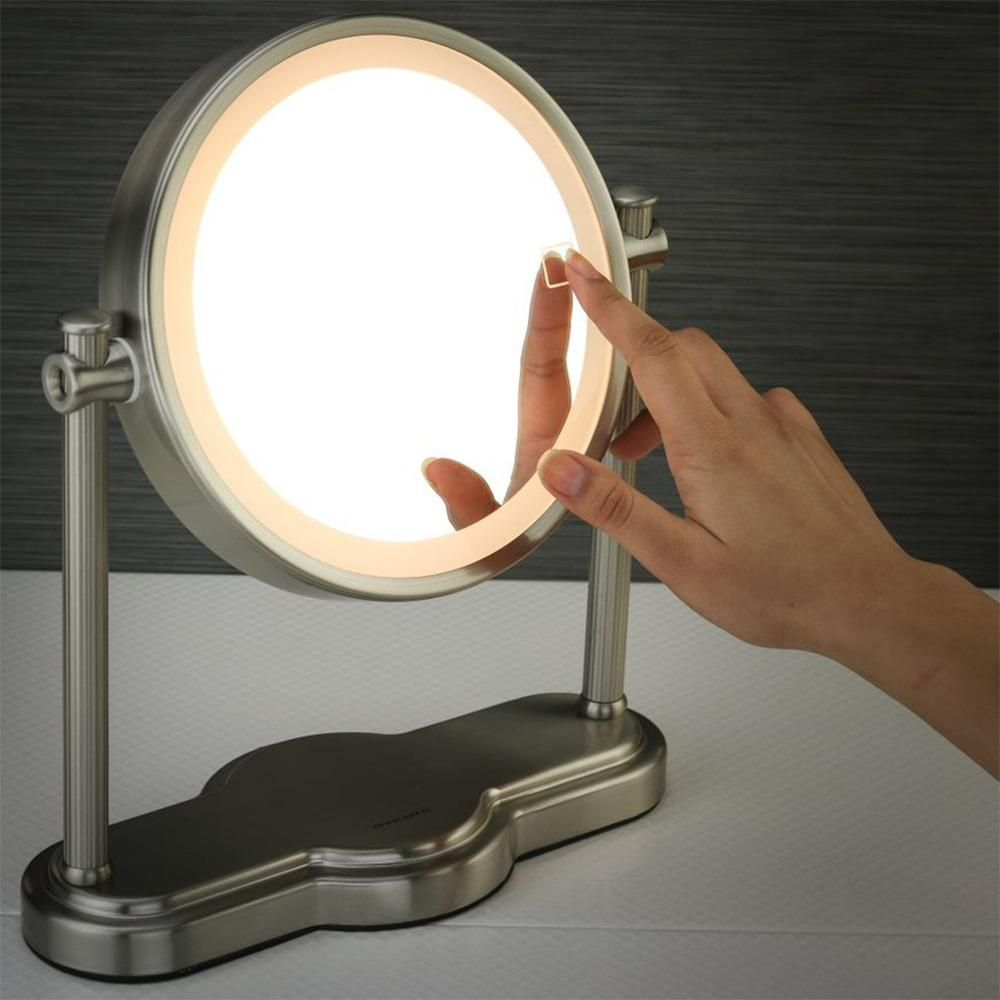 Ovente Led Lighted Makeup Mirror Smarttouch 3 Tone Lighting