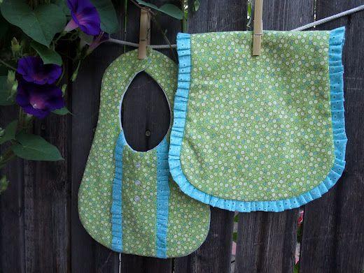 Ruffled Burp Cloth Pattern & Tutorial