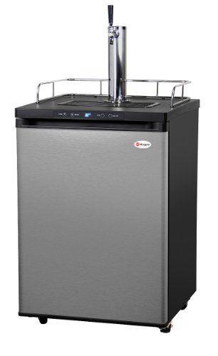 Kegco K309ss 1 Full Size Digital Kegerator Stainless Steel This Classy And Power Efficient Freestanding K309ss Homebrew Kegerator Kegerator Beer Dispenser
