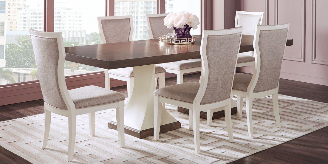 Sofia Vergara Santa Fiora White 5 Pc Rectangle Dining Room Rooms