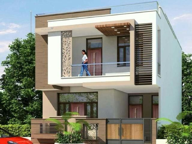 200 Yards House Elevation Facade House House Exterior Small