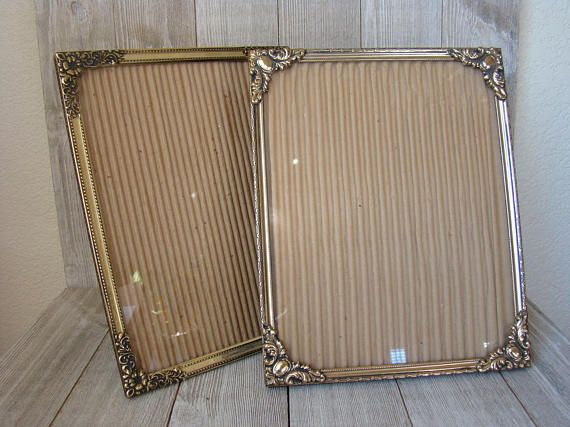 Vintage Gold Frames 8 X 10 Frames Gold Metal Frames Wedding