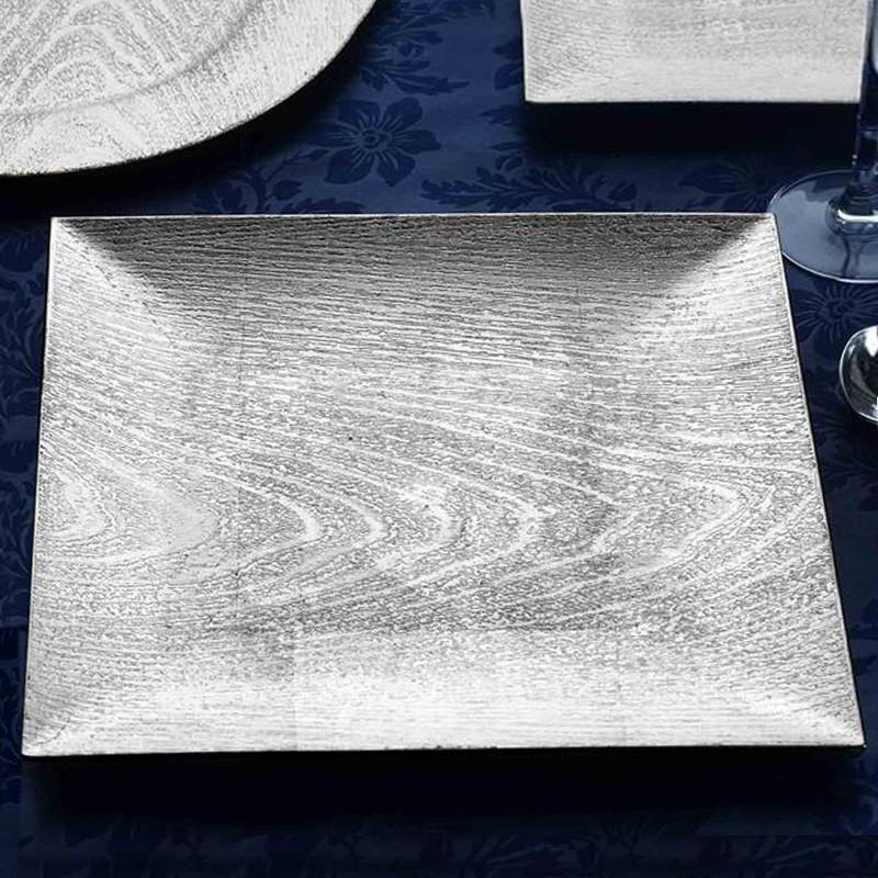 Bulk Set Of 4 Wedding Table Setting, Mirrored Charger Plates Bulk
