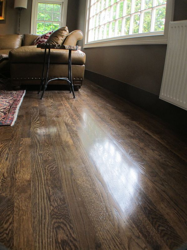 EcoOptions Hardwood Bona Jacobean stain  WOOD FLOORS in