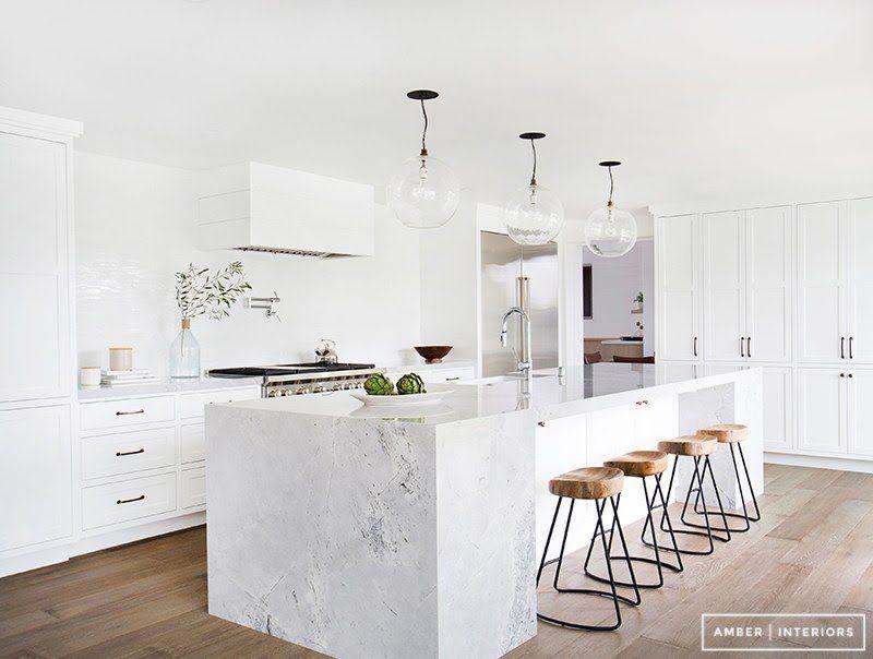 marmol en decoración marmol cocinas modernas estilo nórdico estilo ...
