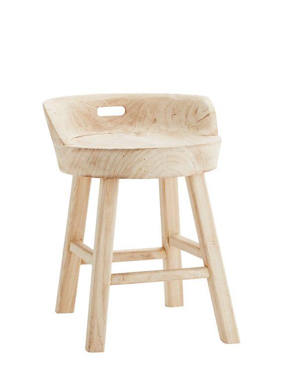 Tolles Möbel für die Küche! Rustikaler Hocker aus Holz mit - sitzbank küche mit lehne