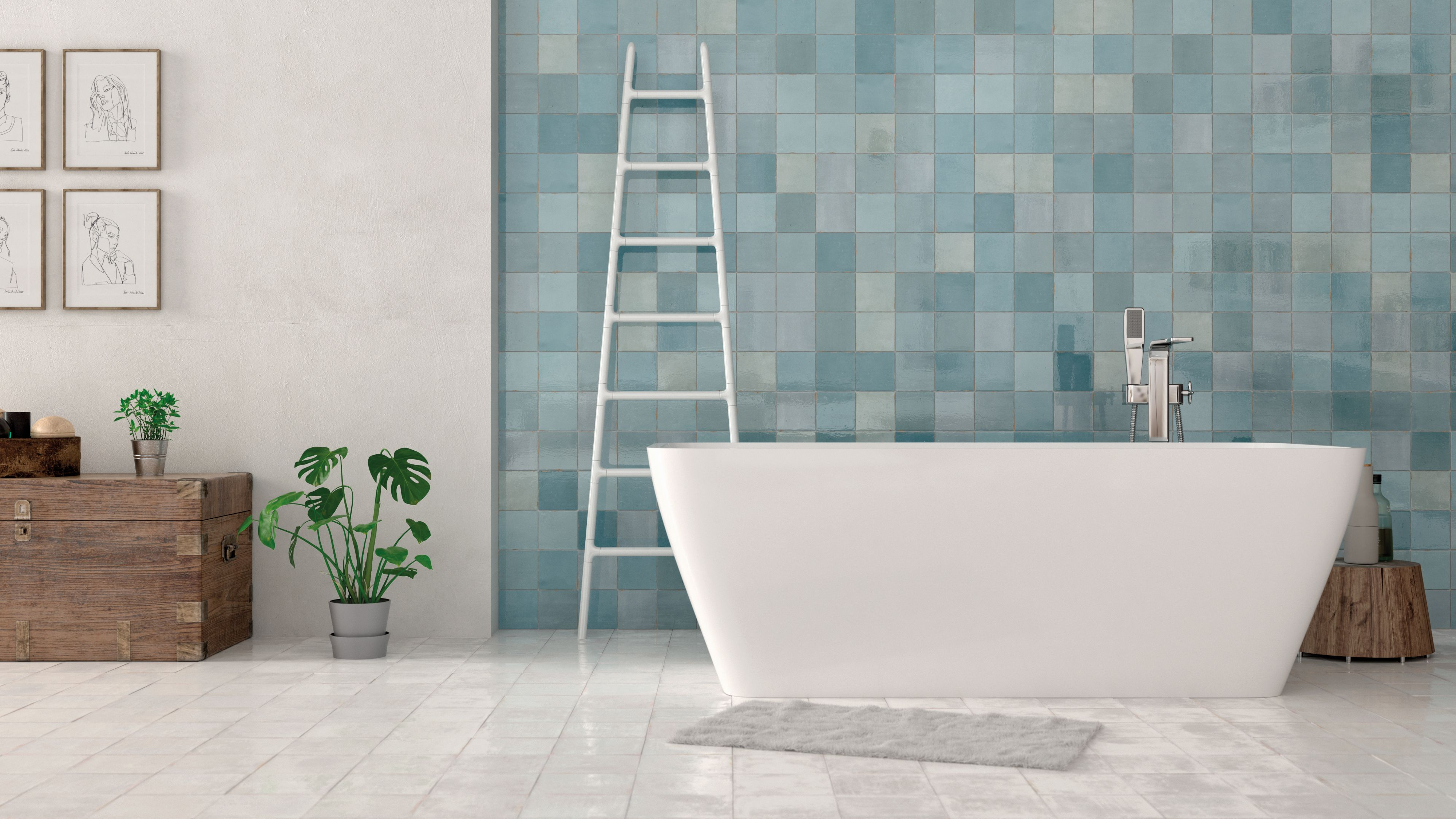 Nt18 005dt Boutique Zellige Turques Gloss Wall Tile 125 X 125mm Inspired By The Traditional Tile Making Methods Of Wall Tiles Aqua Tiles Ceramic Wall Tiles
