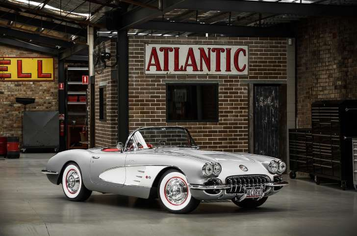 Right Hand Drive Restomod 1958 Corvette From Australia 1958 Corvette Corvette Hot Rods Cars Muscle