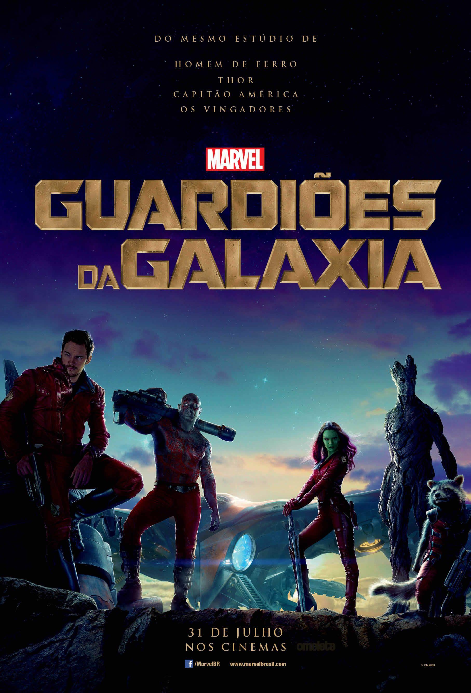 Guardioes Da Galaxia Veja O Cartaz Em Portugues Do Filme Filmes De Acao Filmes Marvel Filmes