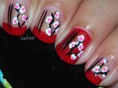 Photo of Asian Paper Lantern  Nail Art Gallery by NAILS Magazine
