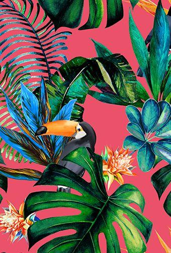 Spring/Summer 2020 Print Trend 'Bird Life' #tropicalpattern