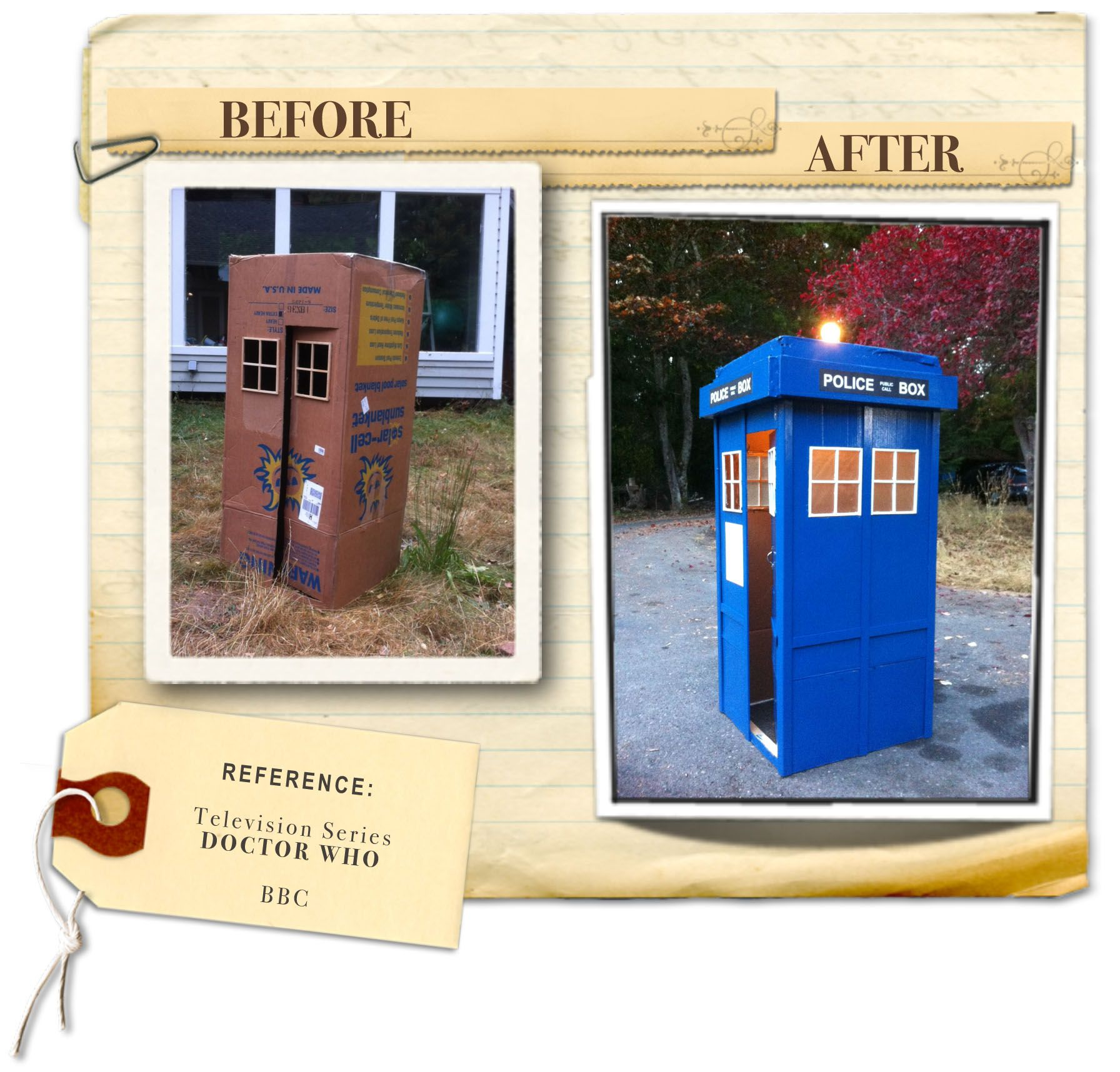 How to make Doctor Whos TARDIS out of a cardboard box Kids love
