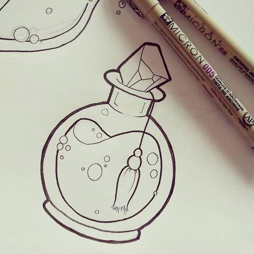 Pociones Magicas V Pintura Y Dibujo Arte En Cuadernos Dibujar Arte