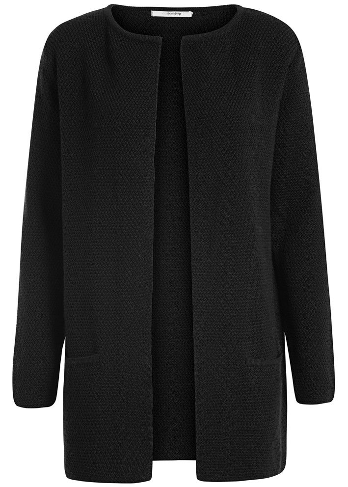 Sibin Linnebjerg Cardigan sort SL1022 Mary Short Cardigan 1999 black – Acorns