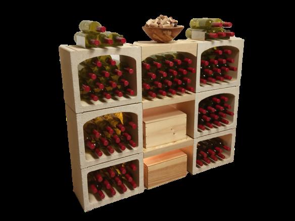 Casiers A Bouteilles De Vin En Pierre Equipes D Etageres A Vin Chene En 2020 Casier A Bouteille Bouteille De Vin Casier Vin