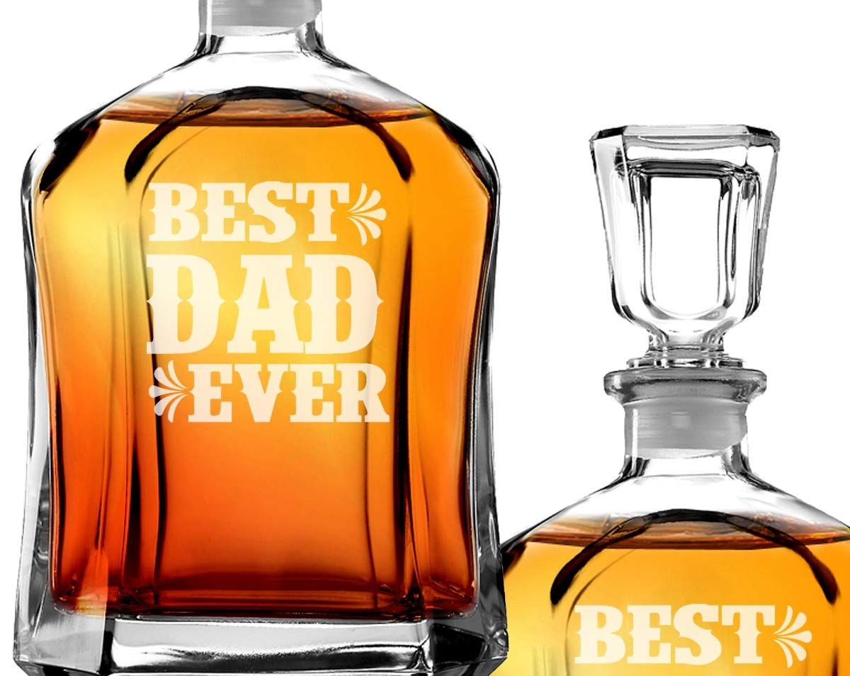 Best dad ever personalized since year engraved decanter