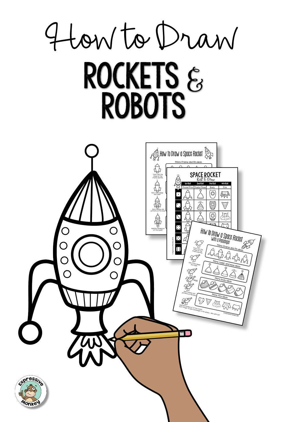 How to Draw Rockets and Robots   bullet journal   Rocket drawing ...