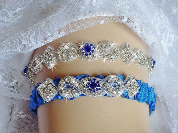 Royal Blue Wedding Garter Set Traditions By Bridalambrosia