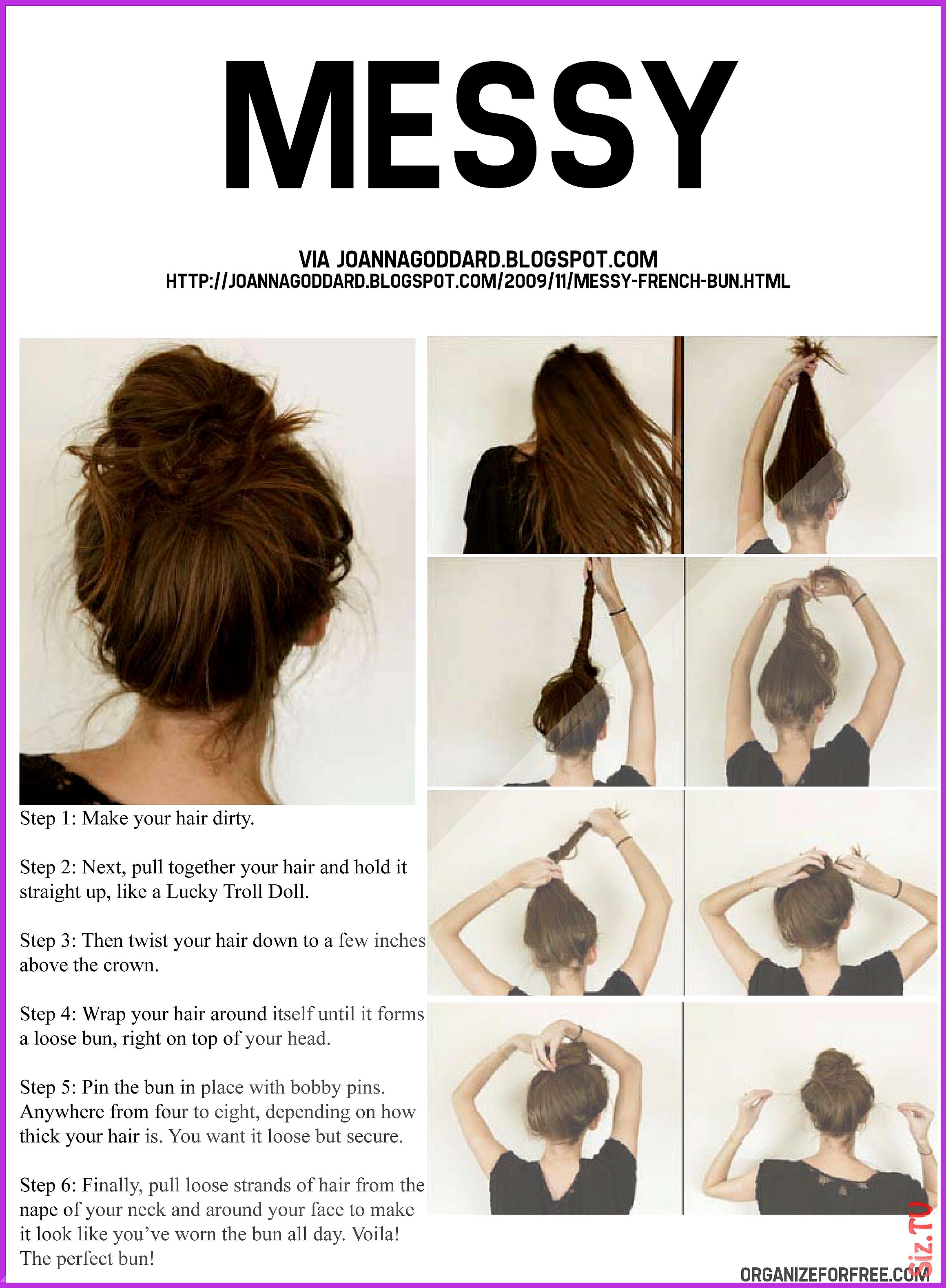 17 Pretty Easy Hairstyles Messy Bun Tutorials To Try 17 Pretty Easy Hairstyles Messy Bun Tutorials To Try Ha Messy Bun Hairstyles Hair Styles Thick Hair Styles