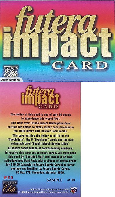 Cricket Cards 25579 1996 Australian Cricket Elite Sample Impact - Sample Cards