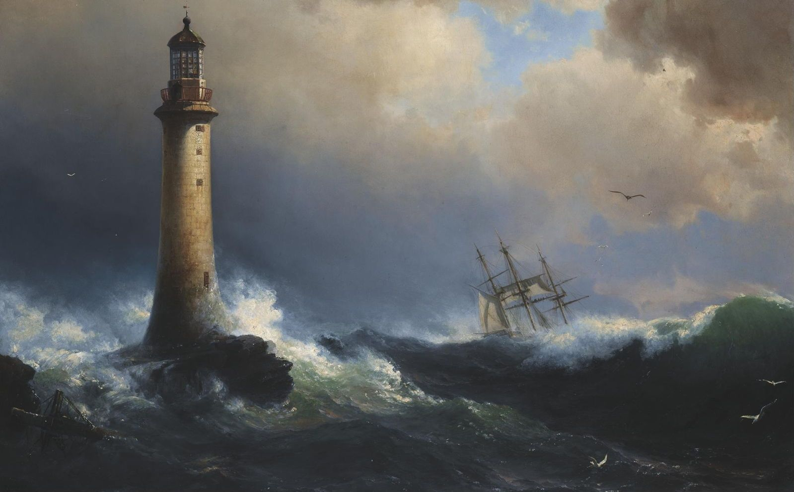 Lighthouses In The Paintings Of Jmw Turner Constable Monet Signac Peder Balke And Others From Engla Seascape Paintings Lighthouse Painting Lighthouse Art