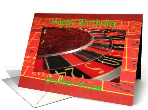 Birthday Cards Brother In Law ~ Brother in law happy #birthday #roulette #wheel greeting card