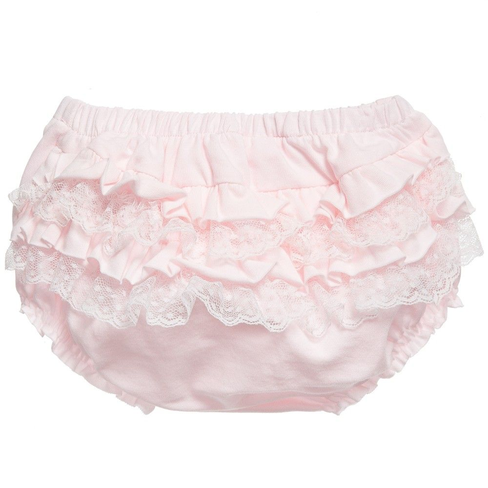 d53c113a43de MAYORAL NEWBORN Baby Girls Pale Pink Frilly Knickers | Kids | Frilly ...
