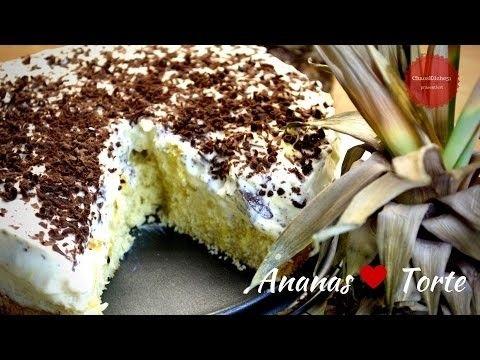 Ananas Frisch Kase Torte Diy Ananas Torte Schnell Einfach