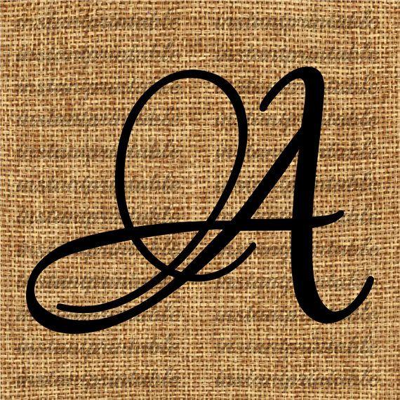 Monogram Initial Letter A Letter Clip Art Letter Decal Download Letters Letter Download Printable Letter Calligraphy Item No 73 Calligraphie Tatouage Tatouage Lettre Clip Art