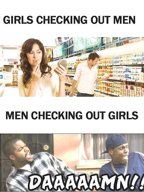 Girls Checking Out Men