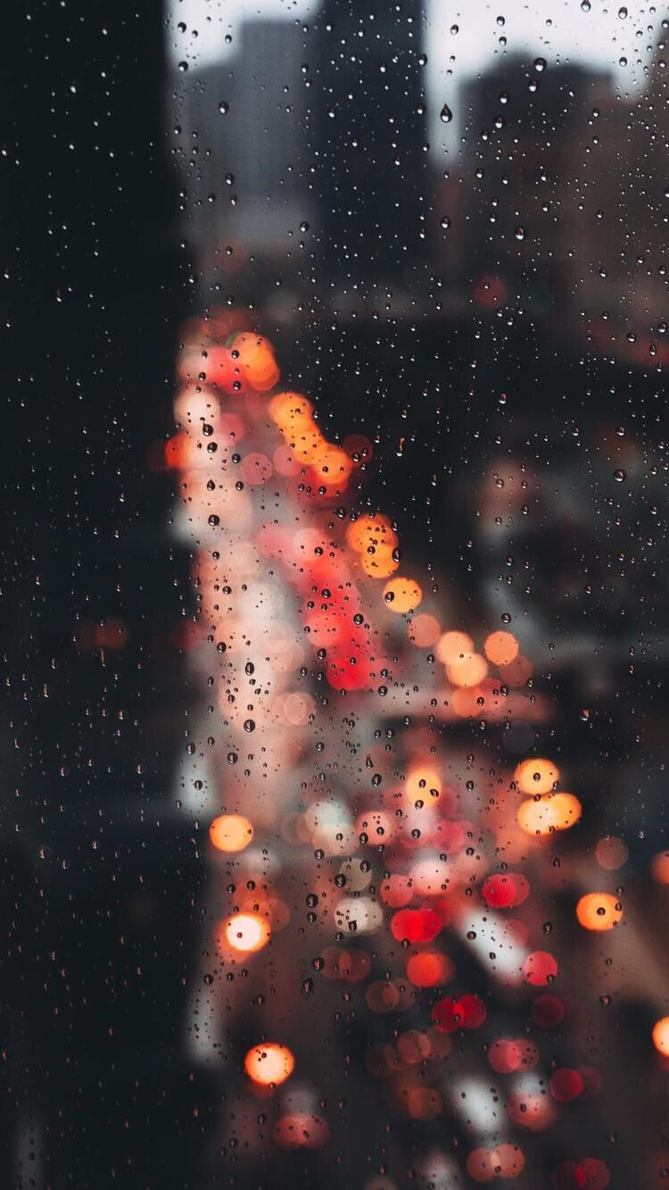 New York Rain Drops IPhone Wallpaper