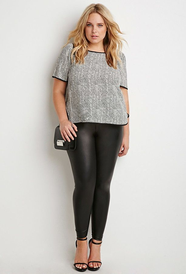 FOREVER 21+ Speckled Dolphin Hem Top (plus size) Plus
