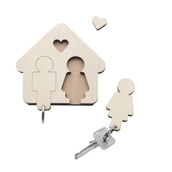 Design Schlüsselbrett mit Schlüsselanhänger - HOME SWEET HOME