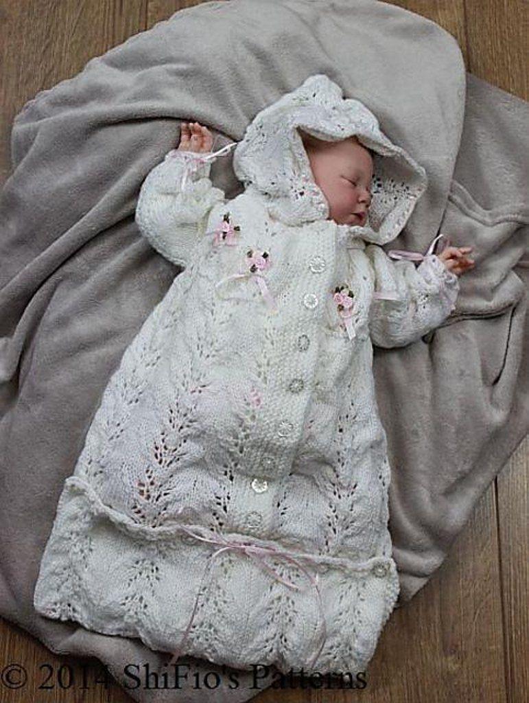 Knitted Baby Sleeping Bag Pattern #151   Baby sleeping bag pattern ...