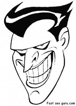 Print out batman joker coloring pages fargelegge tegninger ...