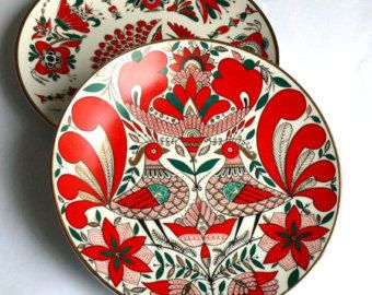 Vintage Decorative Plates Set of two Gorgeous Traditional Russian Design Enamel and Gold  sc 1 st  Pinterest & Vintage Decorative Plates Set of two Gorgeous Traditional Russian ...
