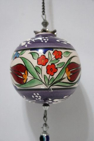 Hand Painted Hanging Turkish Ceramic Ball Turkish